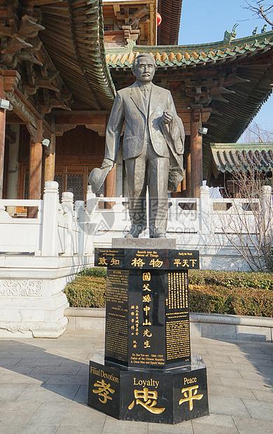 台儿庄孙中山雕像图片