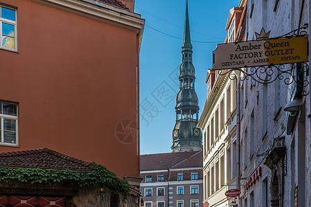 拉脱维亚首都老城里加城市风光图片
