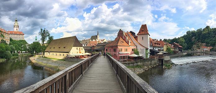 捷克著名旅游CK小镇全景图图片