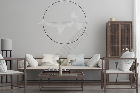 中式客厅空间图片