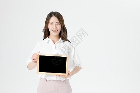 商务女性展示动作图片