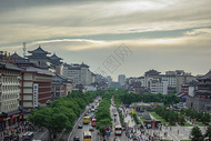 西安鼓楼大街风景图片