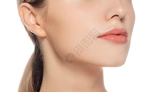 外籍美女唇部展示图片