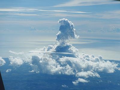 云层上高傲的小老头图片