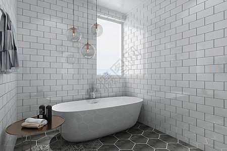 现代浴室空间图片