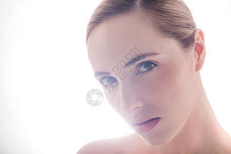 外国美女面部展示图片