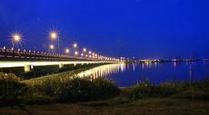 常熟风光昆承湖状元桥夜景图片