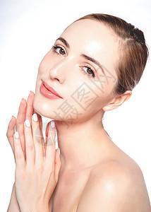 外国美女精装面容美妆图片