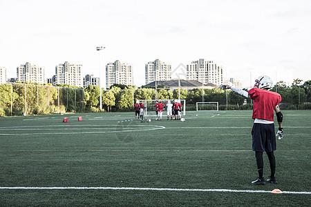 橄榄球训练图片