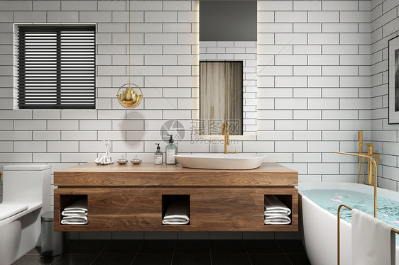 浴室空间场景图片