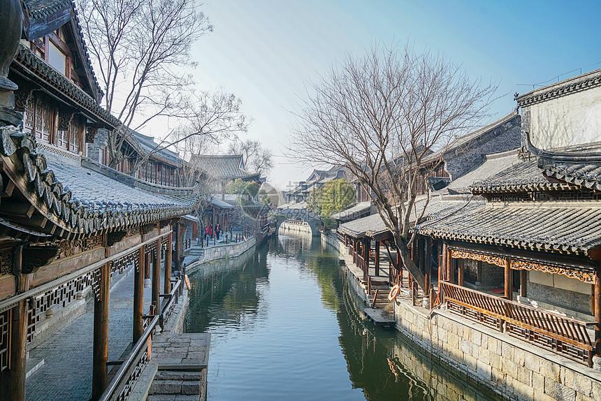 台儿庄古城老街图片