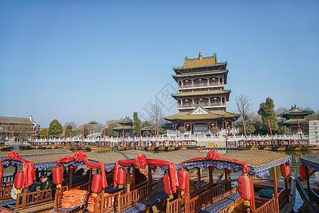 台儿庄古城标志塔楼图片