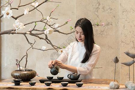 茶艺女性图片