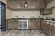 复古厨房空间图片