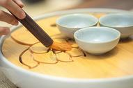 茶刷特写图片