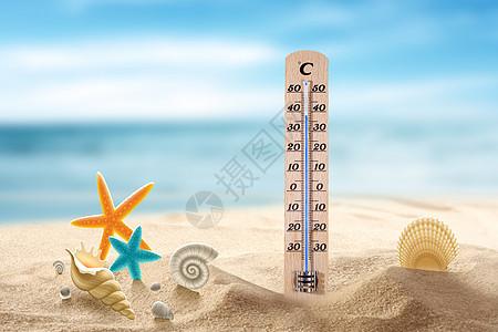 高温的海滩图片