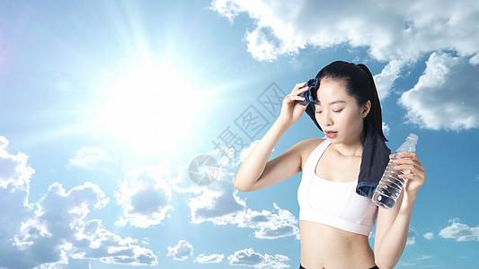 炎热中暑的女士图片
