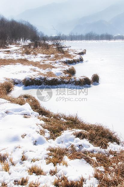 冰封的湖泊图片
