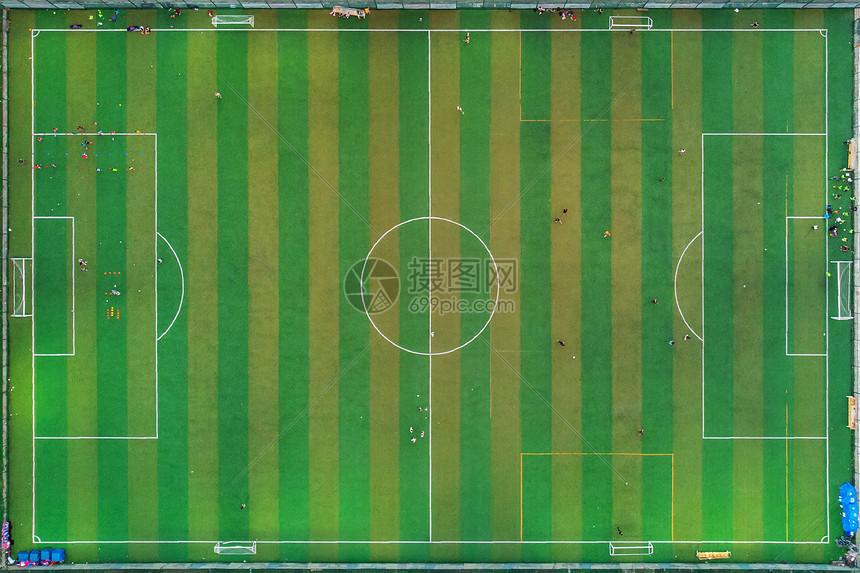 俯瞰标准足球场图片