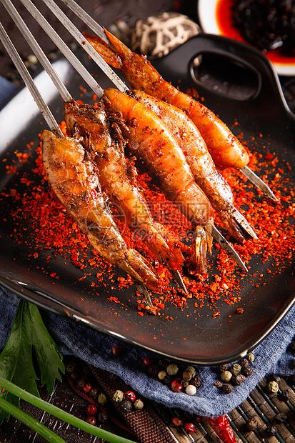 盐焗烤虾图片