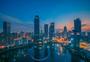 武汉金融街城市夜景图片