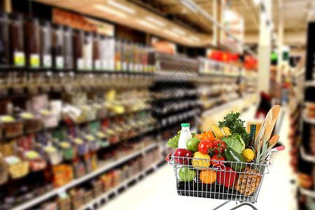 超市购物场景图图片
