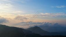 湖北旅游木兰山山顶日出图片