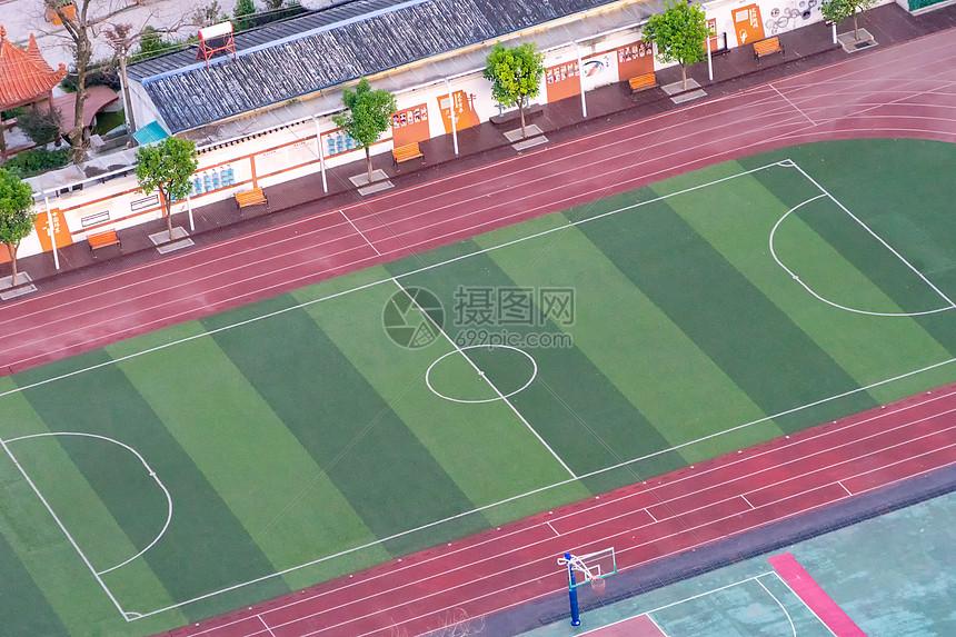 世界杯俯看空旷的足球场图片