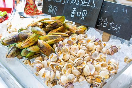 新鲜海鲜蛤蜊图片