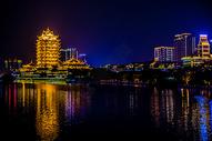 四川眉山夜景图片