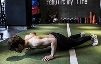 男士健身俯卧撑图片