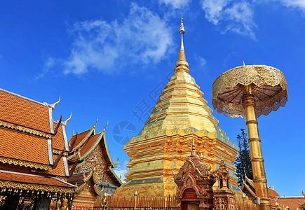 泰国清迈双龙寺图片