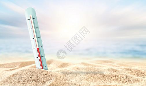 烈日酷暑图片