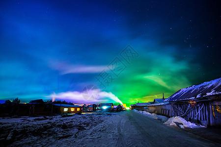 北极村宁静的夜晚图片