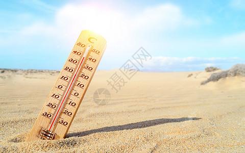 海滩高温图片