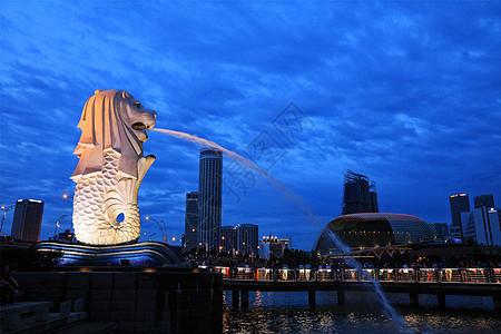 新加坡地标鱼尾狮图片