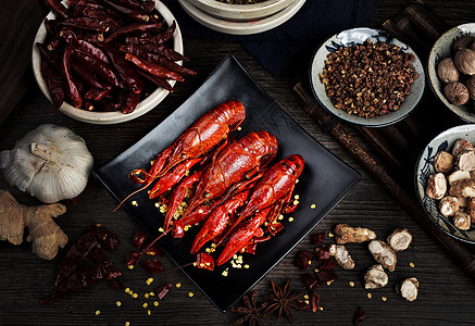 麻辣龙虾图片