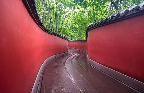 武侯祠内部走廊图片