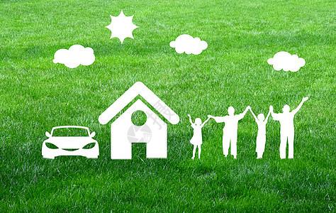 绿色环保家庭图片