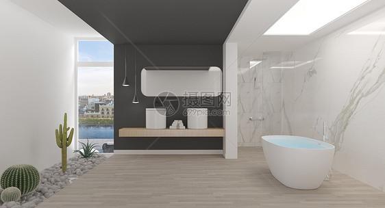 独立卫浴场景图片