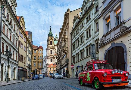布拉格城市街景图片