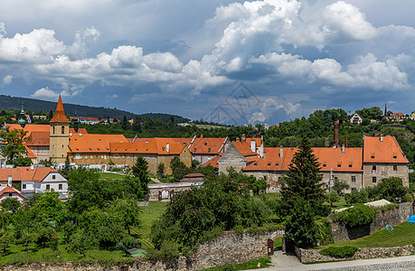 美丽的中世纪古镇捷克CK克鲁姆罗夫风光图片