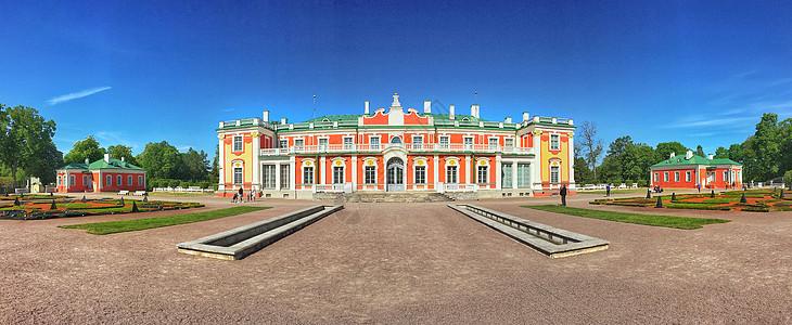 爱沙尼亚首都塔林卡德里奥花园全景图图片