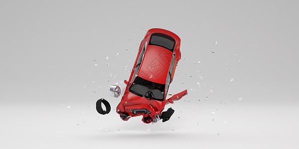 汽车车祸场景图片