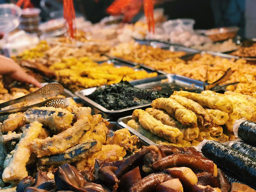 石狮菜市场熟食摊图片