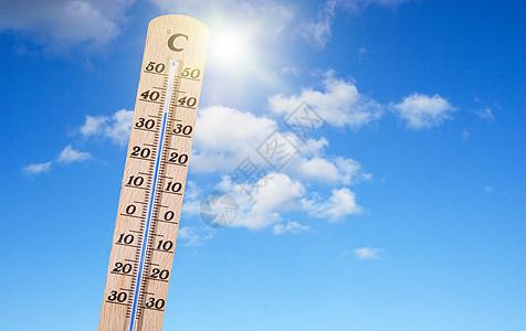 夏季高温图片