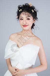 甜美新娘妆图片