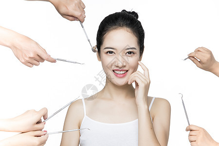 口腔牙齿护理美白女性图片