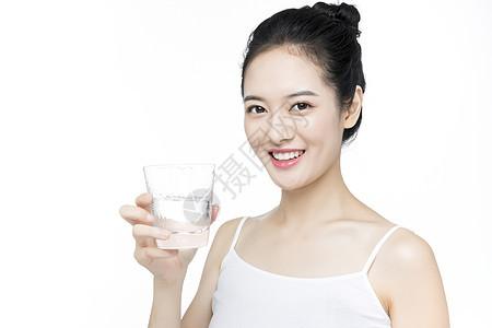 口腔牙齿护理喝水图片