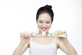 口腔牙齿护理美白刷牙图片